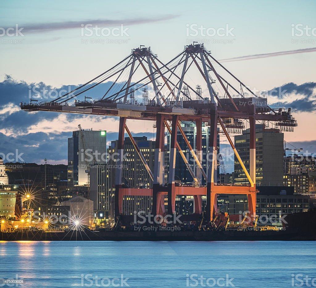 Gantry Crane Delivery stock photo