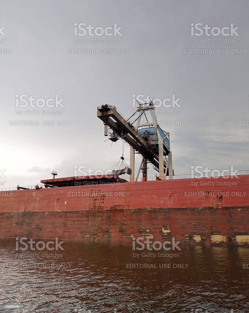Gantry crane on quayside stock photo