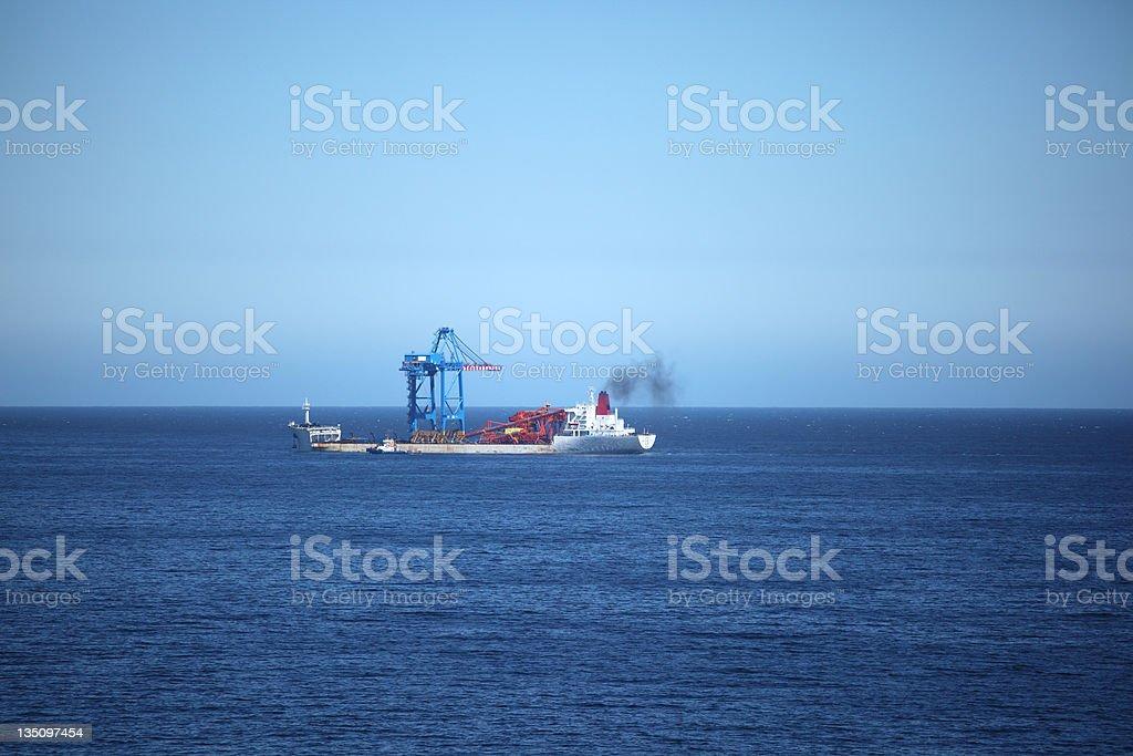 Gantry Crane transport Ship royalty-free stock photo