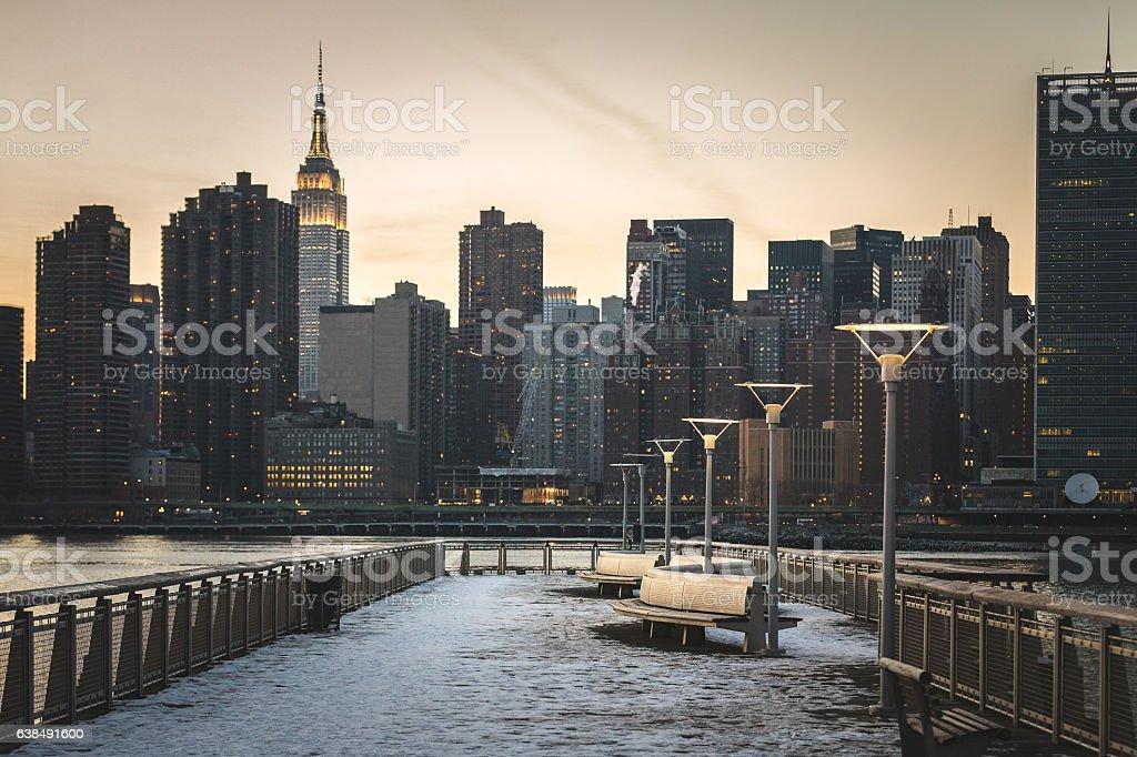 Gantry Plaza, Queens New York City stock photo