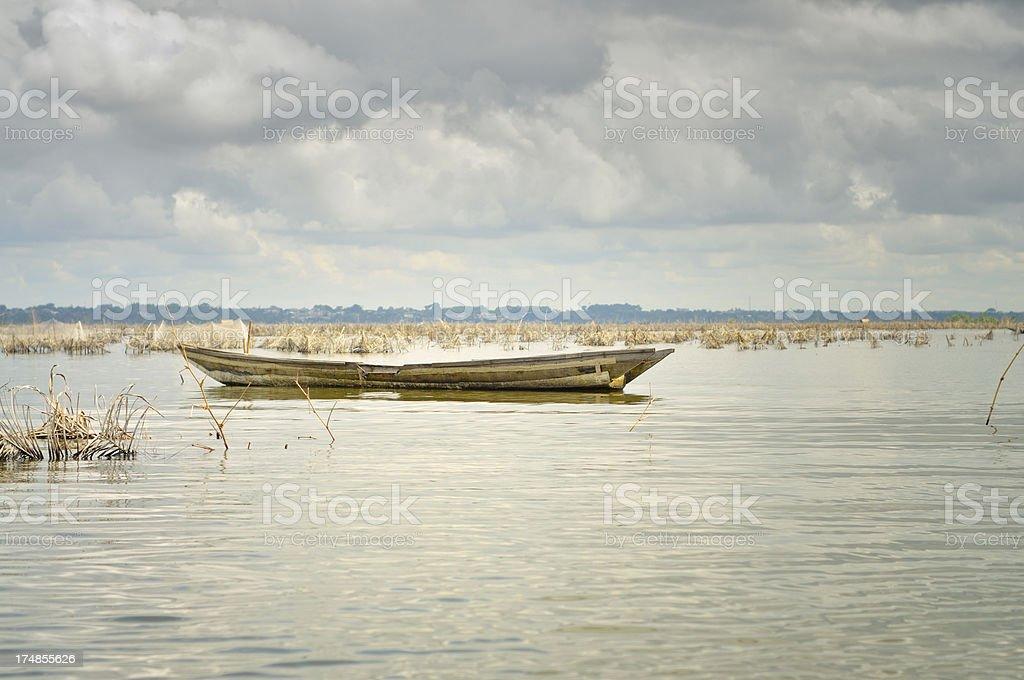 Ganvie Fishing Boat stock photo