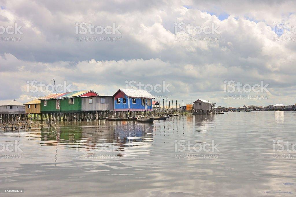 Ganvie Homes And Boats royalty-free stock photo