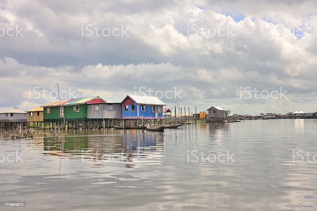 Ganvie Homes And Boats stock photo