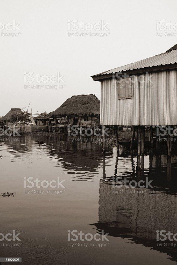 ganvie the village on water stock photo