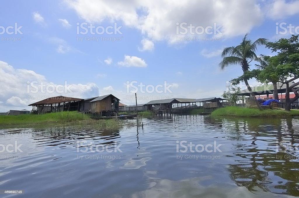 Ganvie Village Skyline stock photo