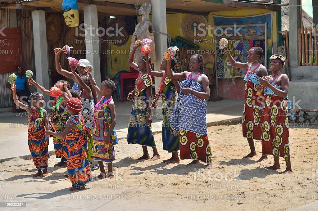 Ganvie Womens And Girls Chorus royalty-free stock photo