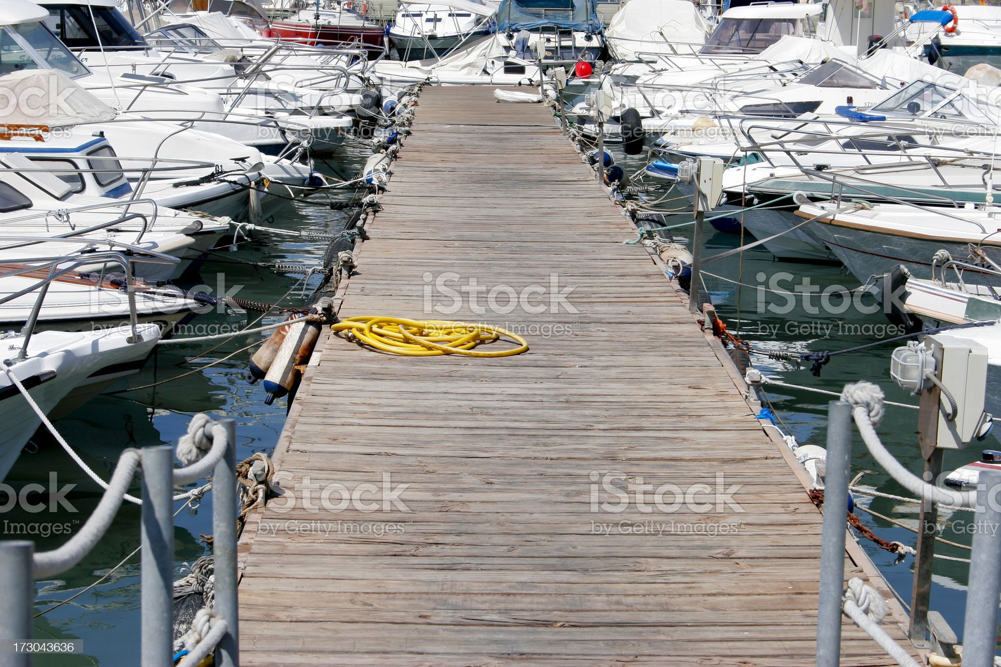 Ganway in Malaga marina. royalty-free stock photo