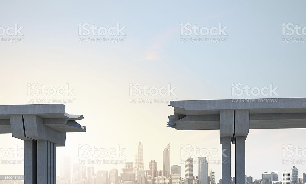gap in the bridge royalty-free stock photo