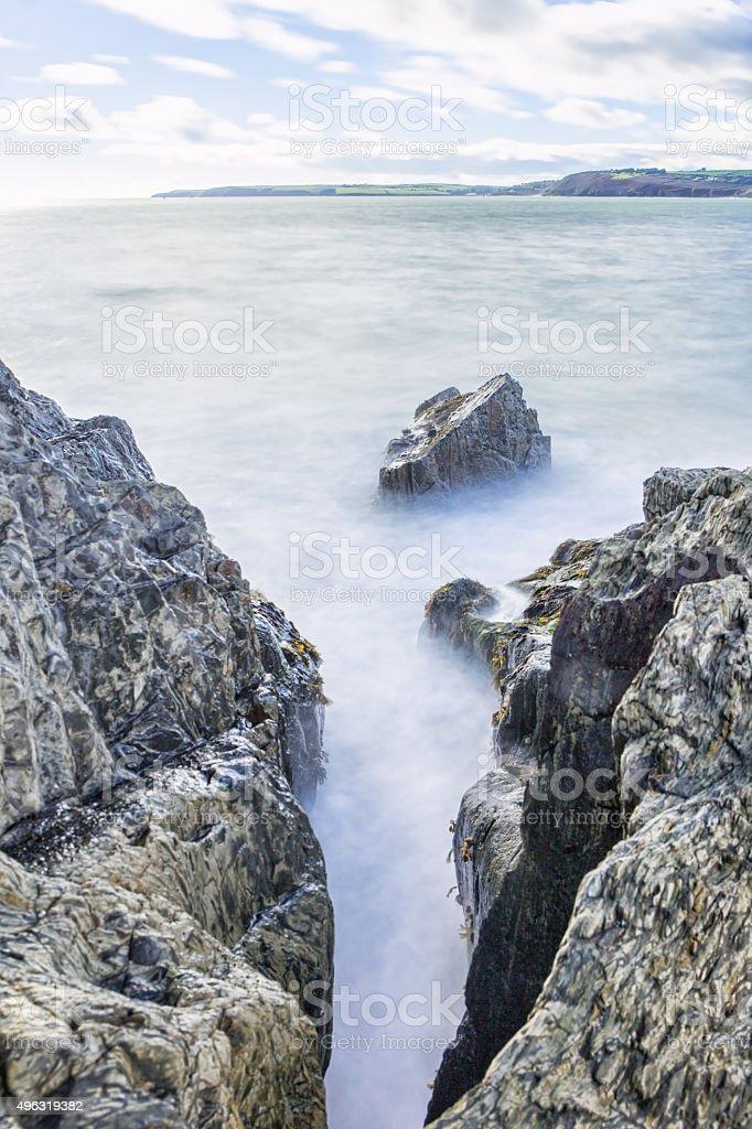 Gap in the Rocks stock photo
