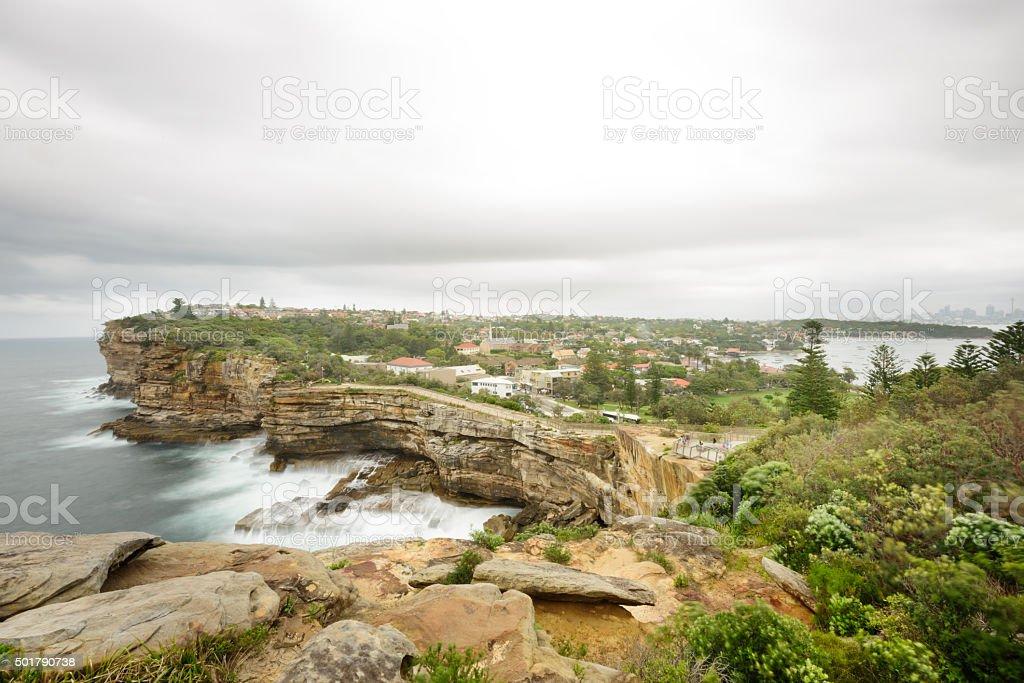 Gap, ocean cliff, Sydney, Watsons Bay, Vaucluse stock photo
