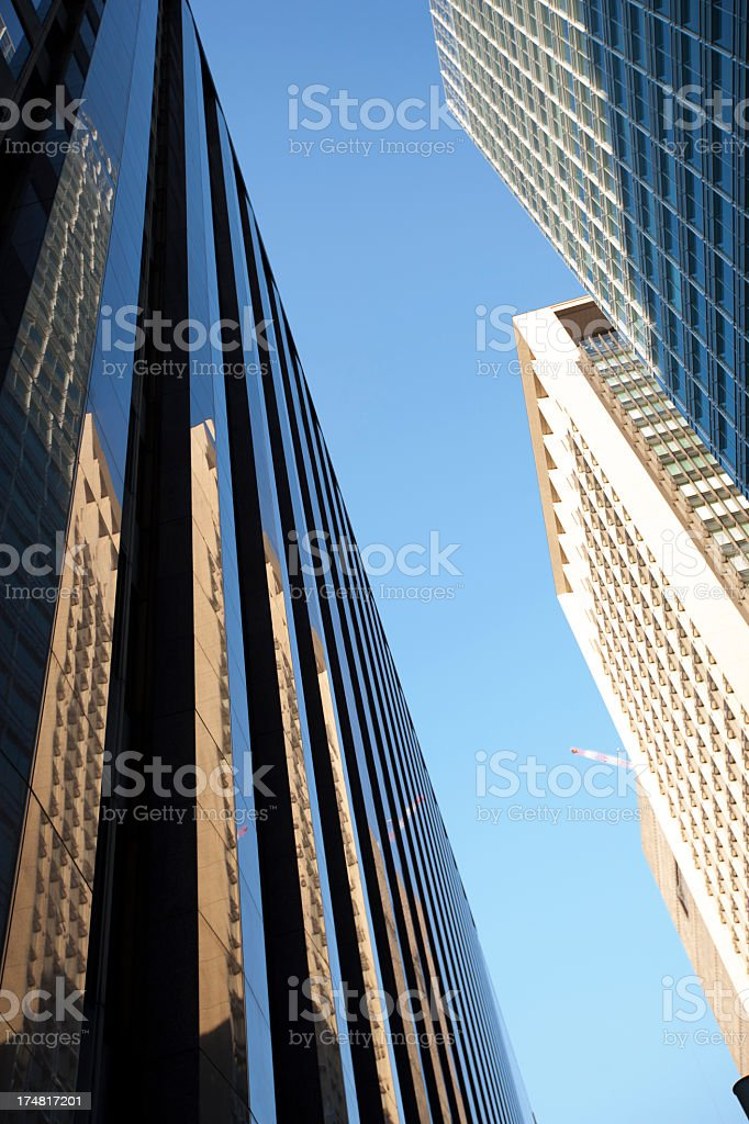 Gap of office buildings. royalty-free stock photo