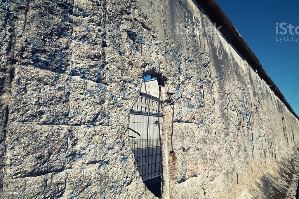 Gap on the Berlin Wall stock photo