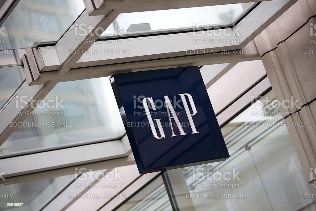 Gap Store Downtown Seattle Retail Shopping District stock photo