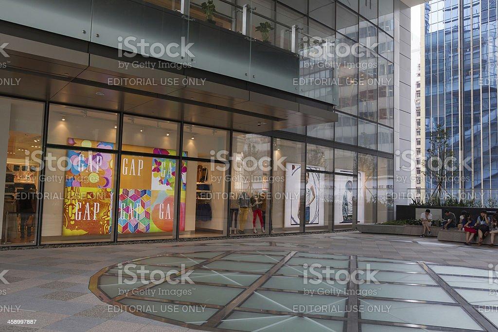 Gap Store in Hong Kong royalty-free stock photo