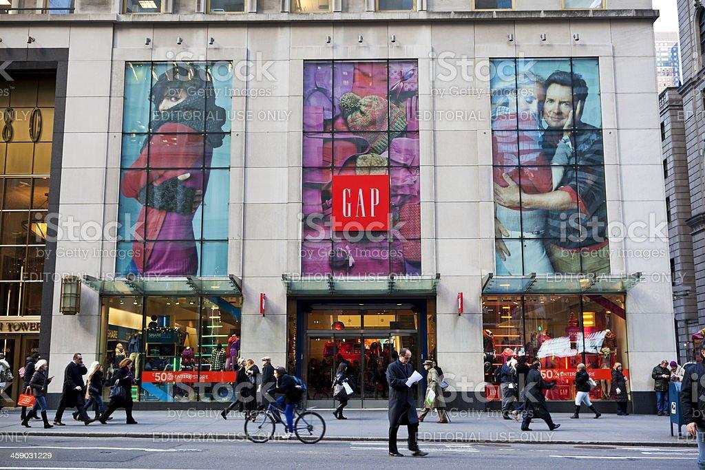 Gap store New York City royalty-free stock photo