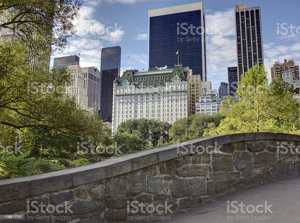 Gapstow bridge Central Park, New York City stock photo