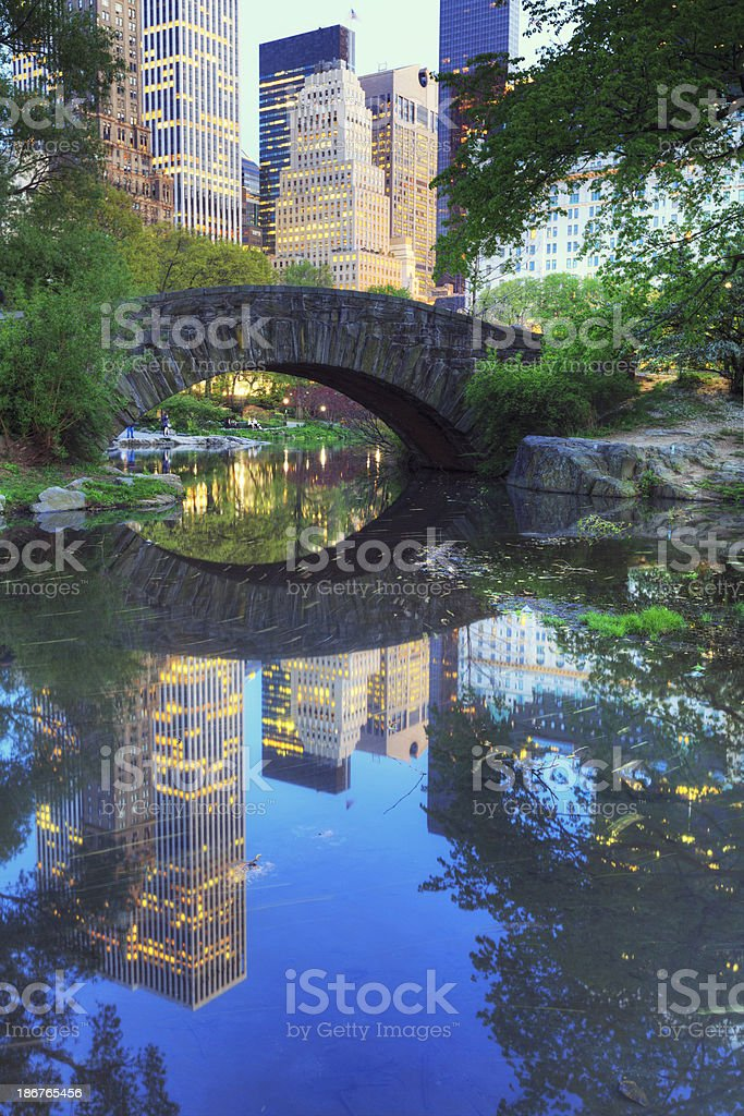 Gapstow Bridge in Central Park, New York City royalty-free stock photo