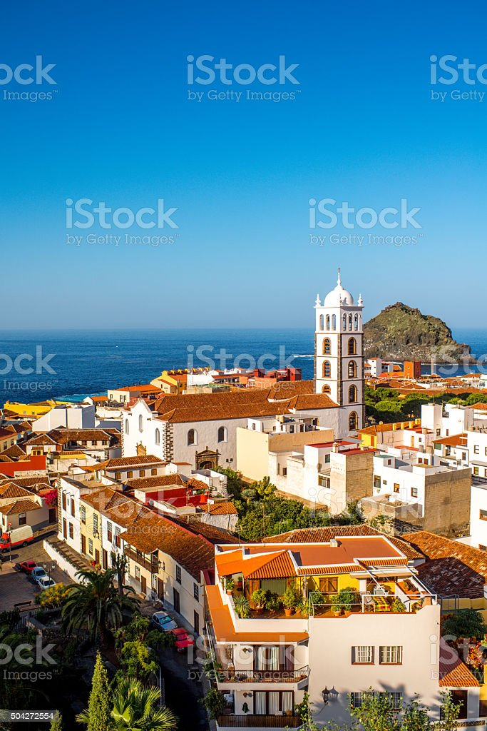 Garachico town cityscape view stock photo