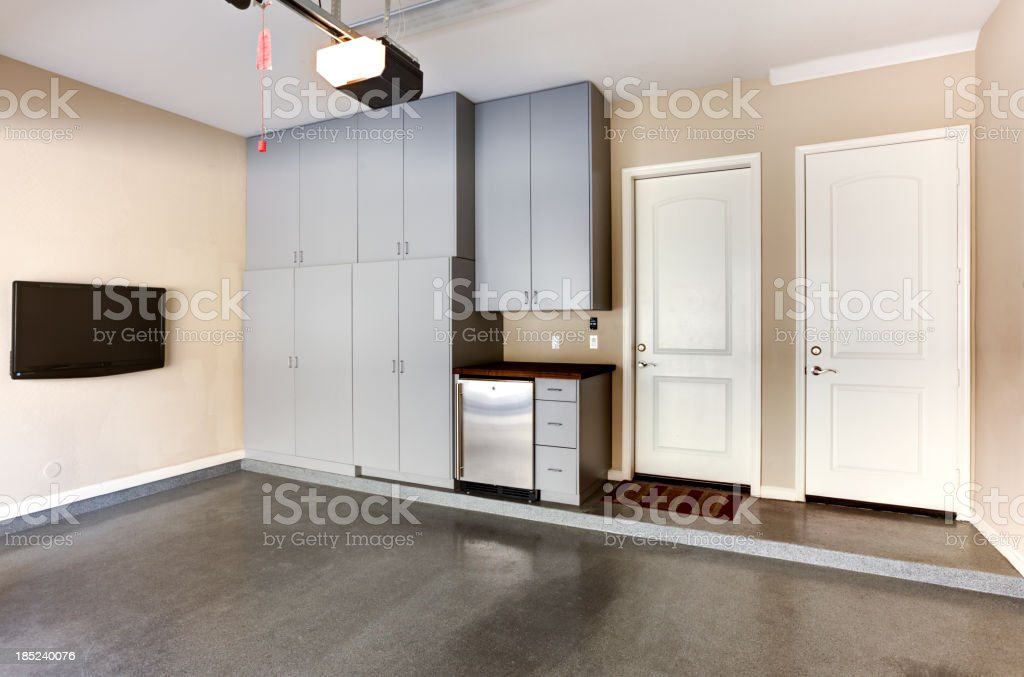 Garage Cabinets stock photo