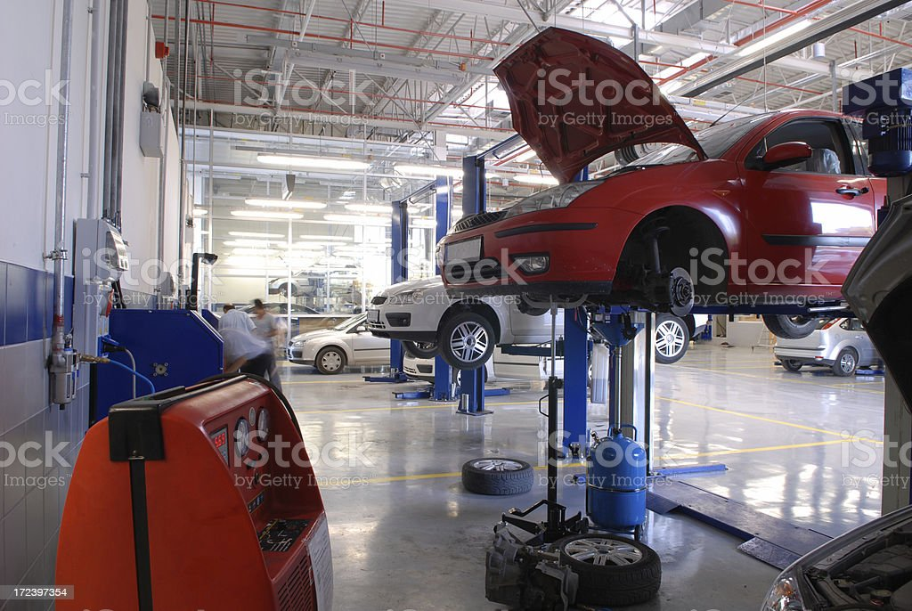 Auto Garage stock photo