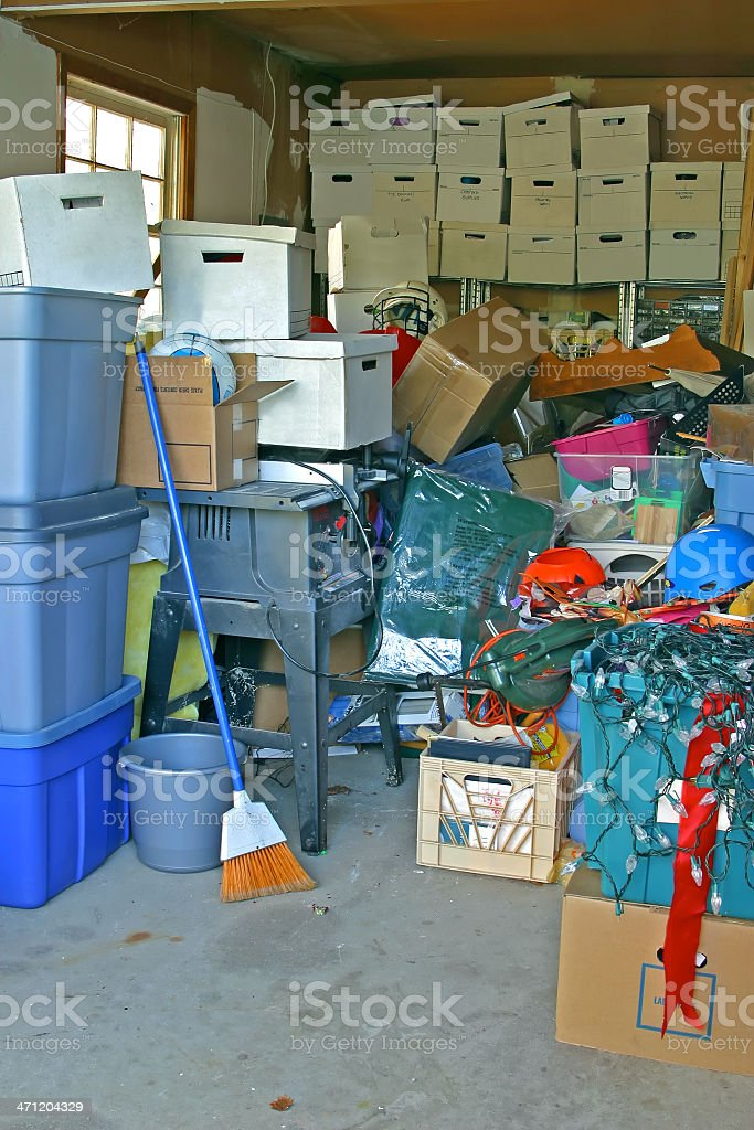Garage Clutter Portrait royalty-free stock photo