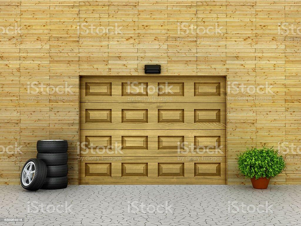 Garage concept. stock photo