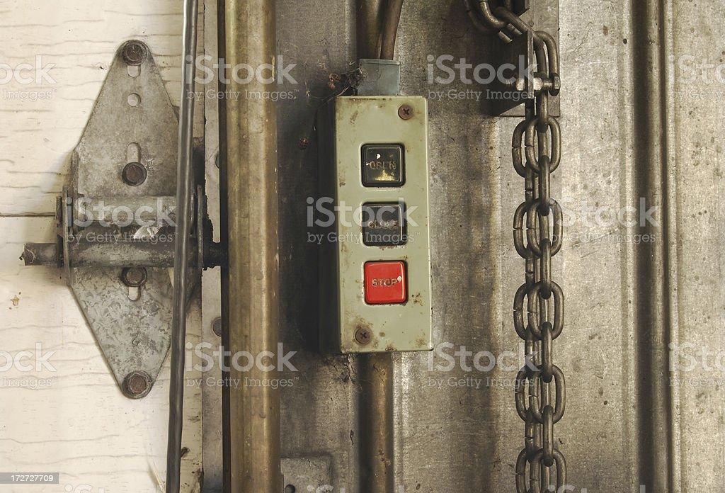 Garage door controls royalty-free stock photo