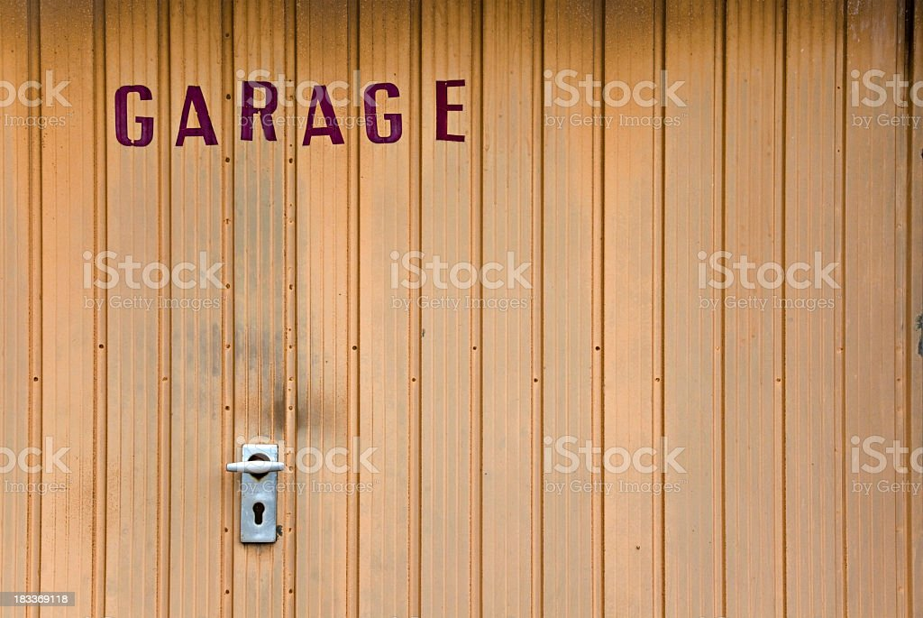 Garage door stock photo