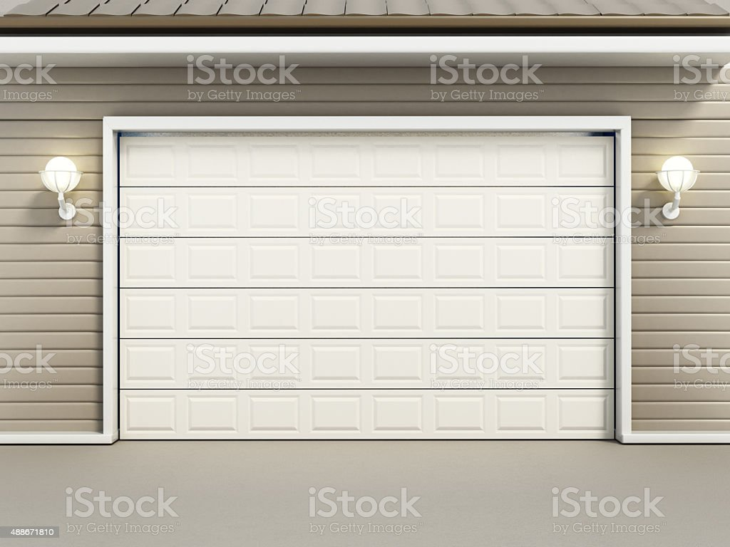 Garage door stock photo