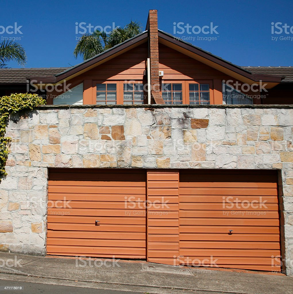 Garage doors royalty-free stock photo