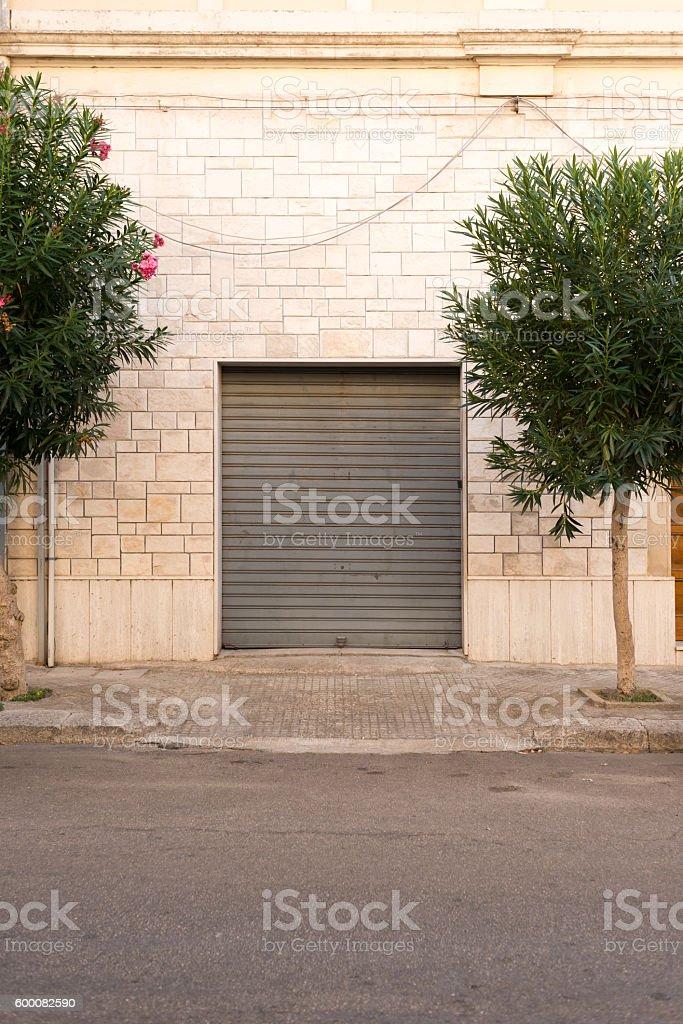 Garage in Puglia, Italy stock photo