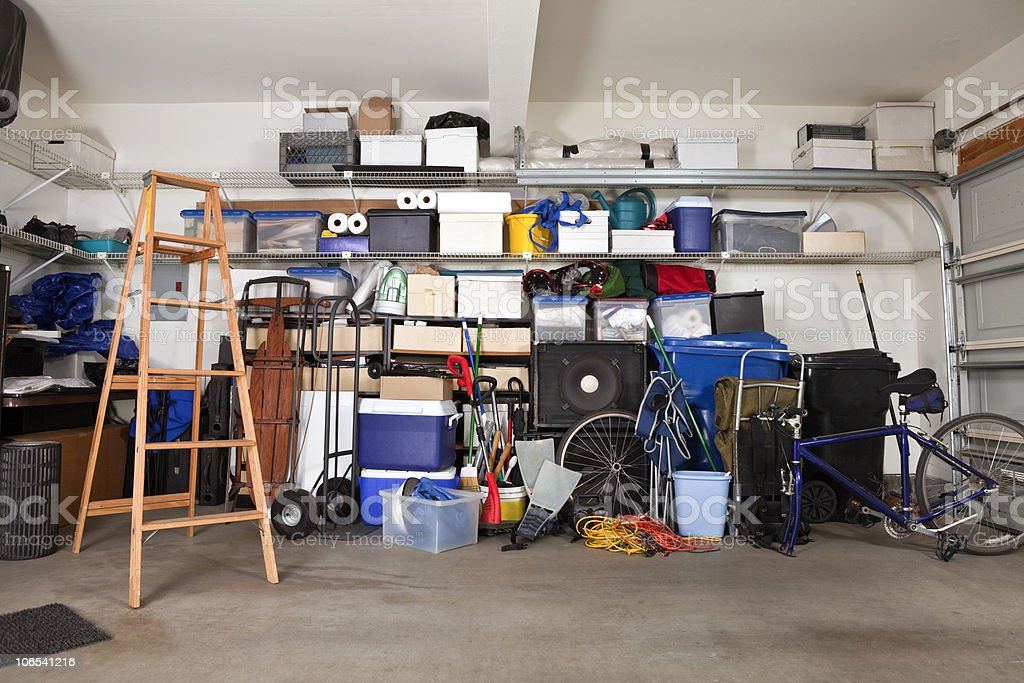 Garage Mess stock photo