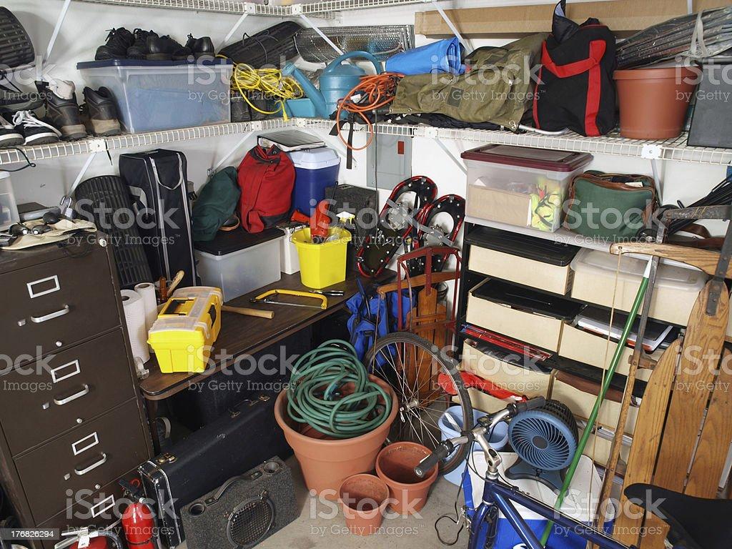 Garage Mess royalty-free stock photo