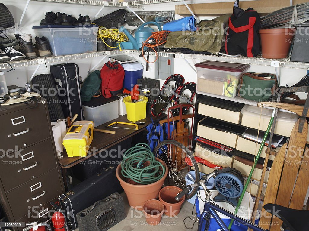 Garage Mess stock photo
