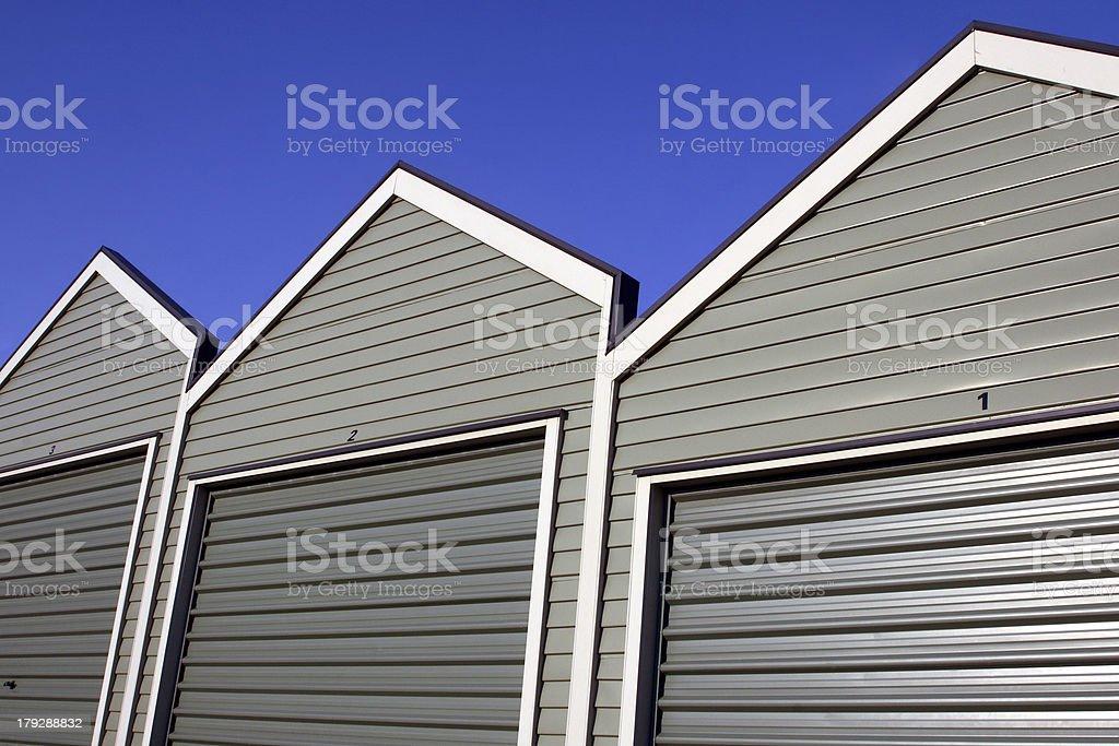 Garage Row stock photo