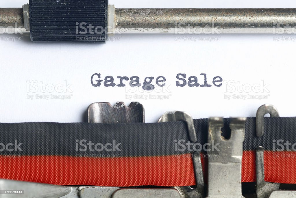 Garage Sale royalty-free stock photo