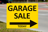 Garage Sale Sign By Roadside