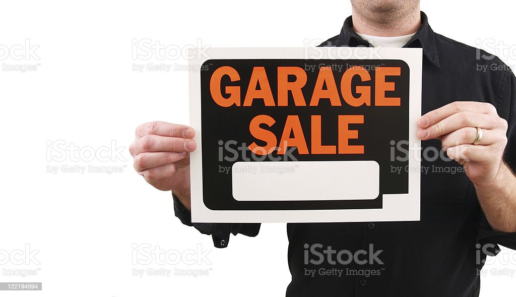 Garage Sale Sign royalty-free stock photo