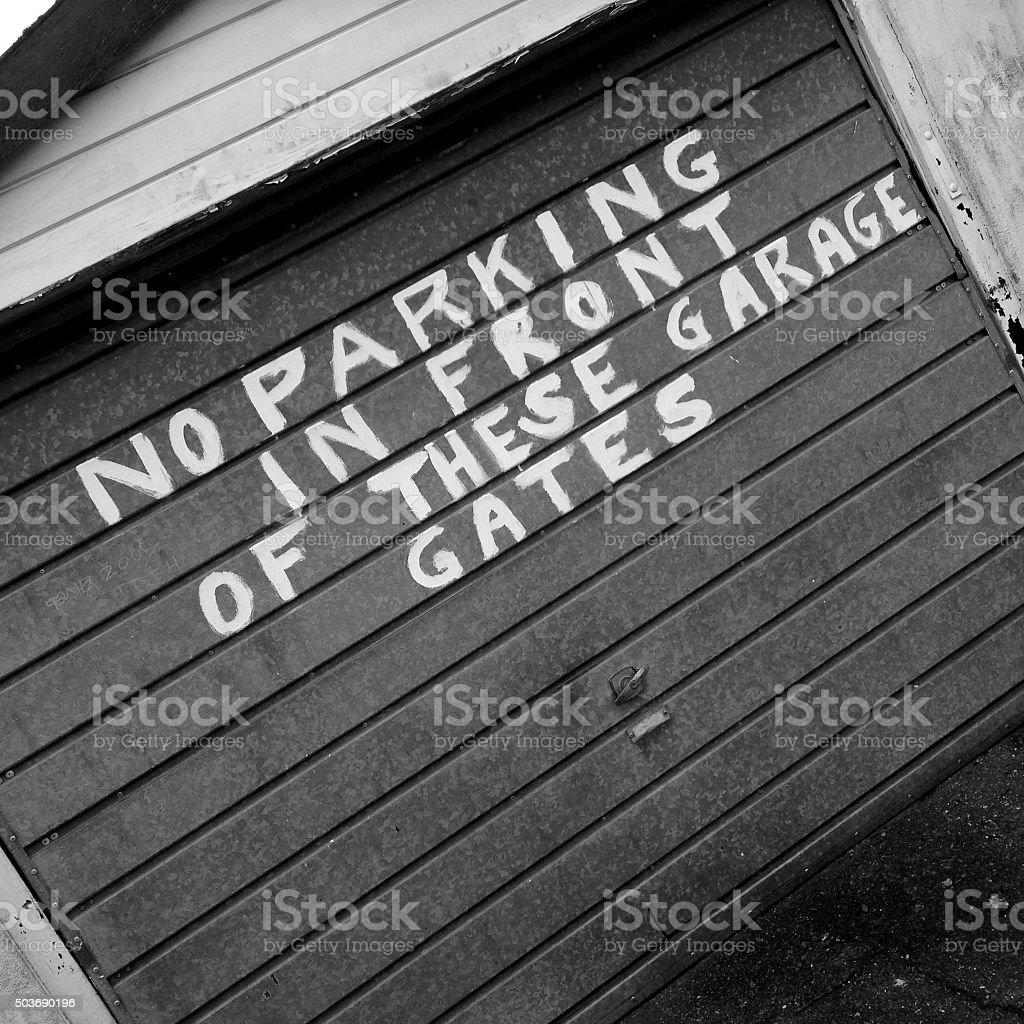 Garage Scene stock photo