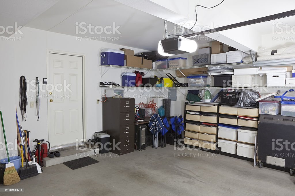 Garage Storage stock photo