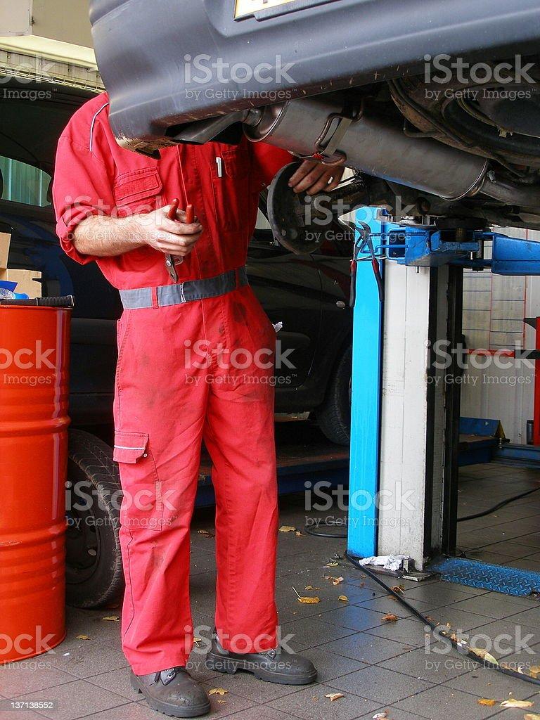 garage-man royalty-free stock photo