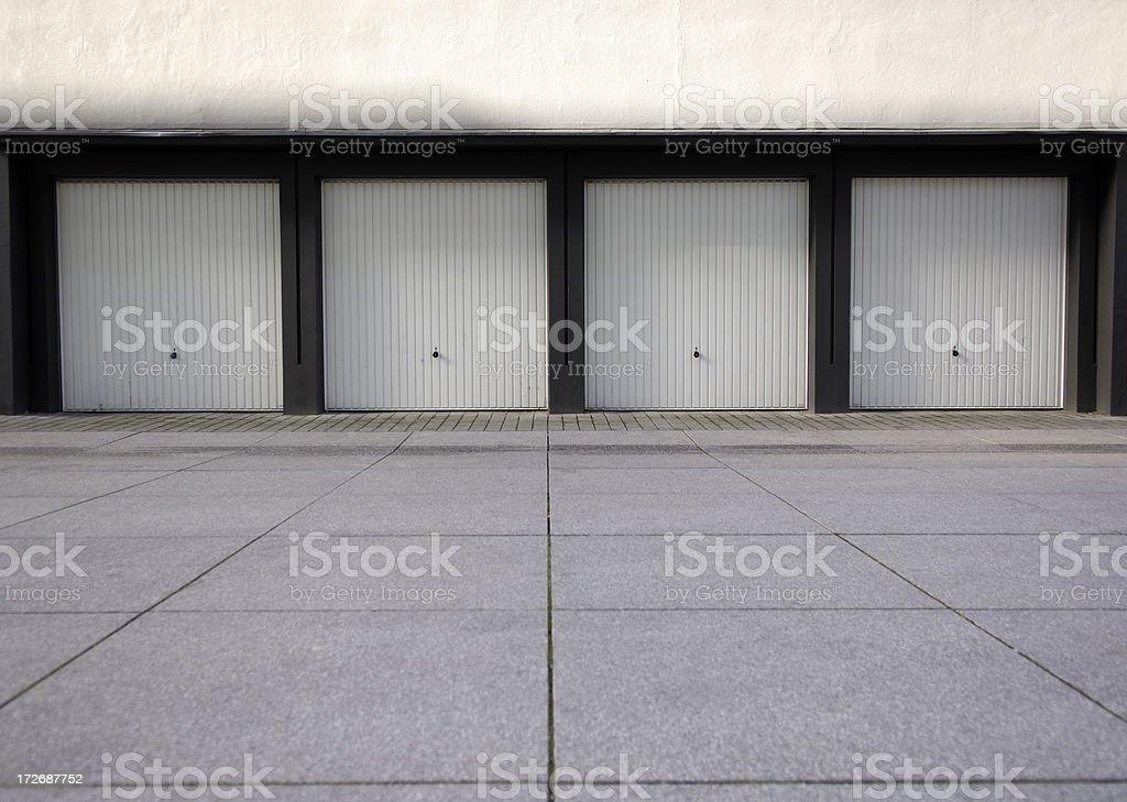 Garages stock photo