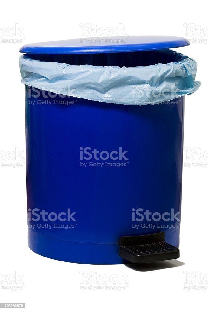 Garbage bag in Blue color pedestal bin royalty-free stock photo