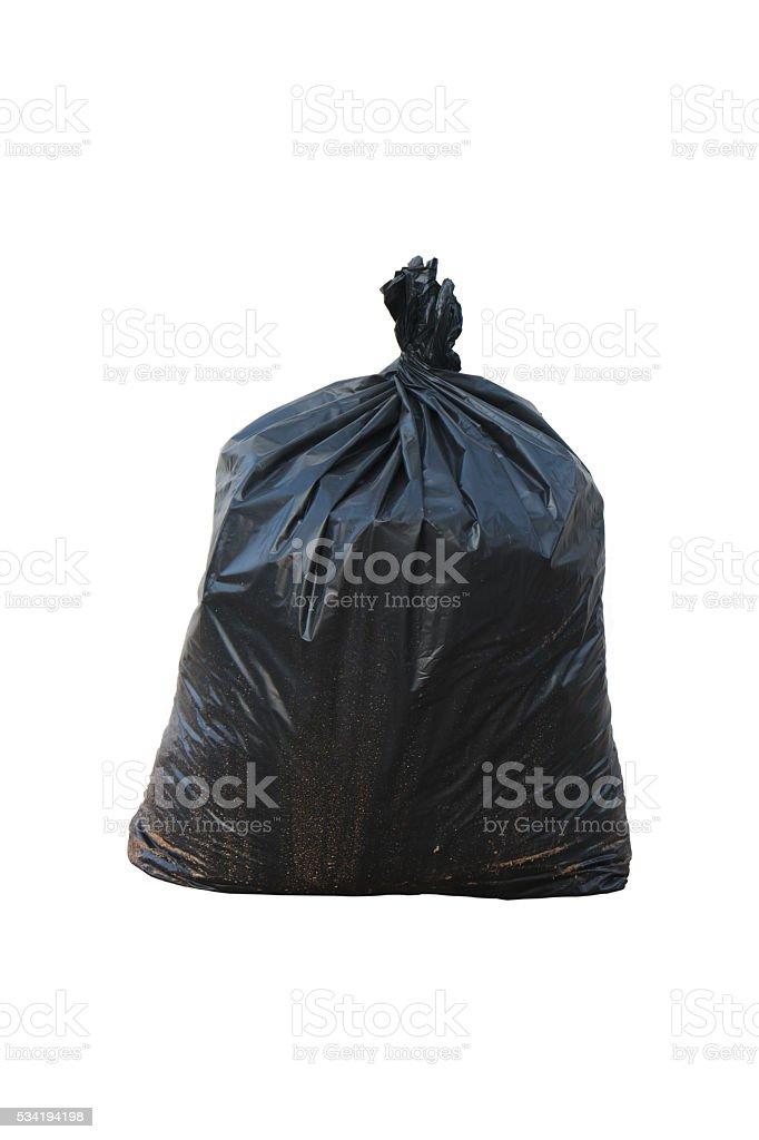 garbage bag isolated on white background stock photo