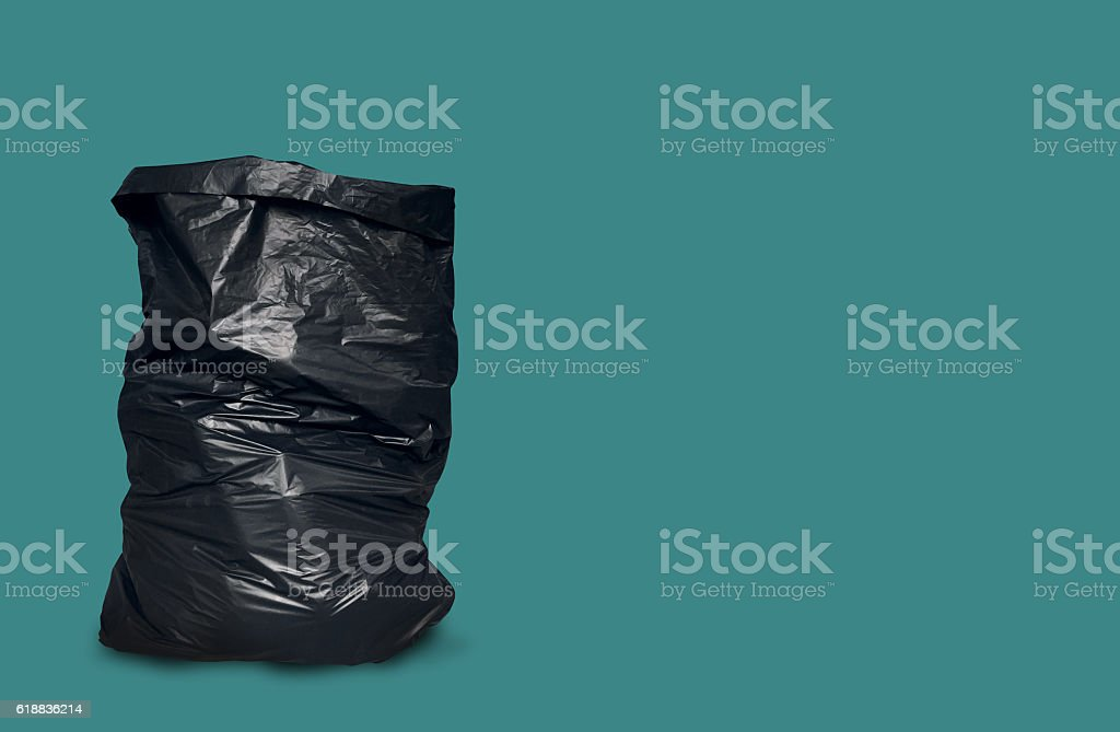 Garbage Bag Isolated with Clipping Path stock photo