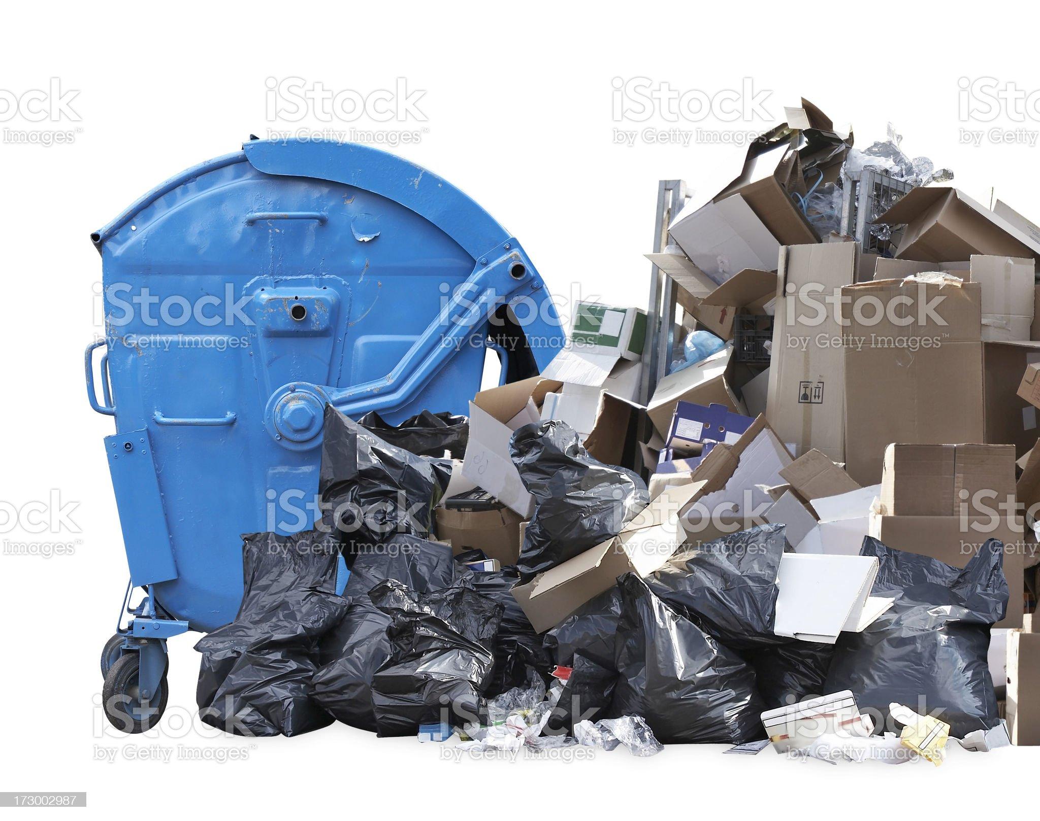 Garbage bin royalty-free stock photo