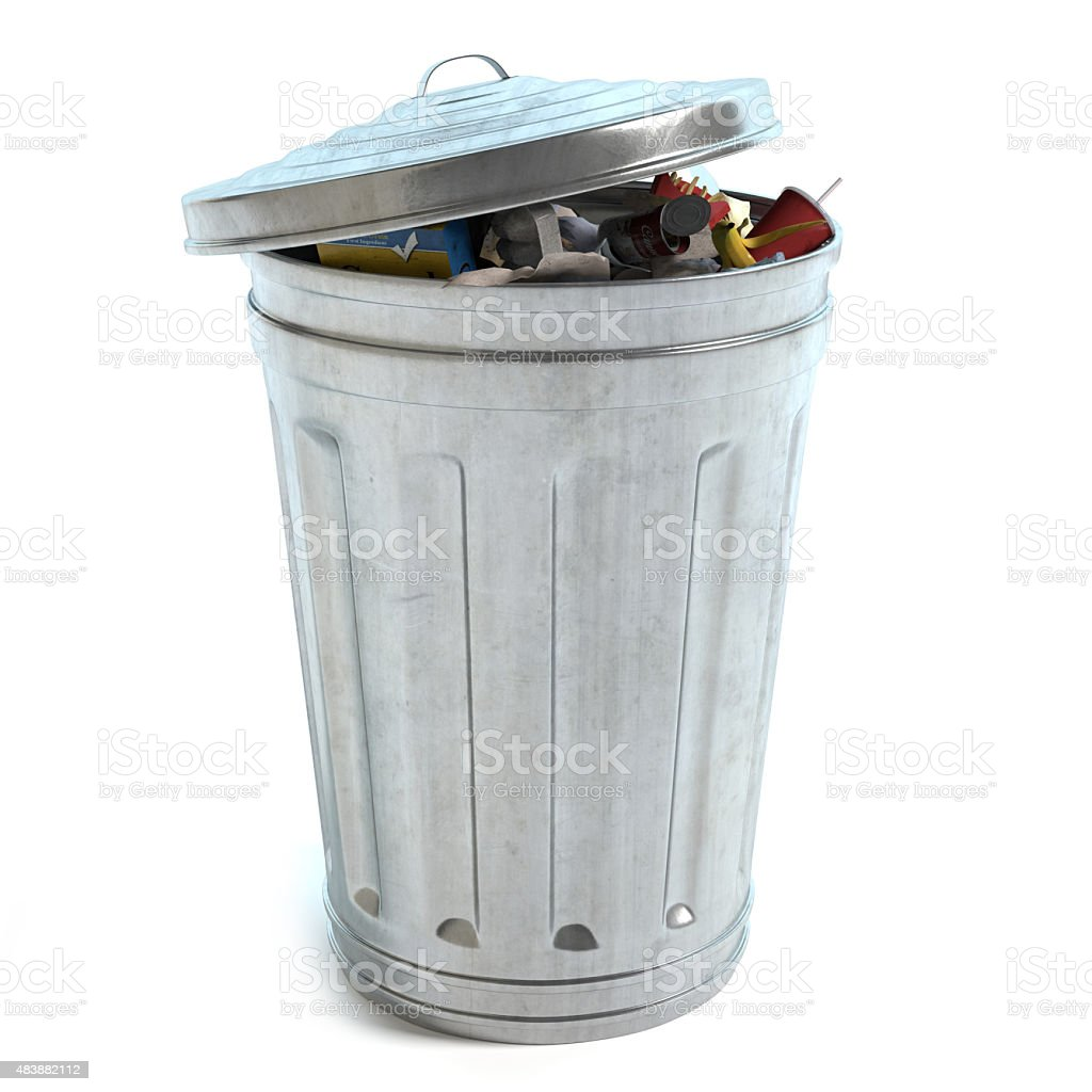 Garbage Can Full stock photo