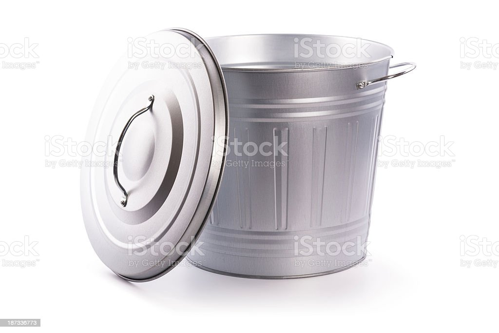 garbage can (clipping path) royalty-free stock photo