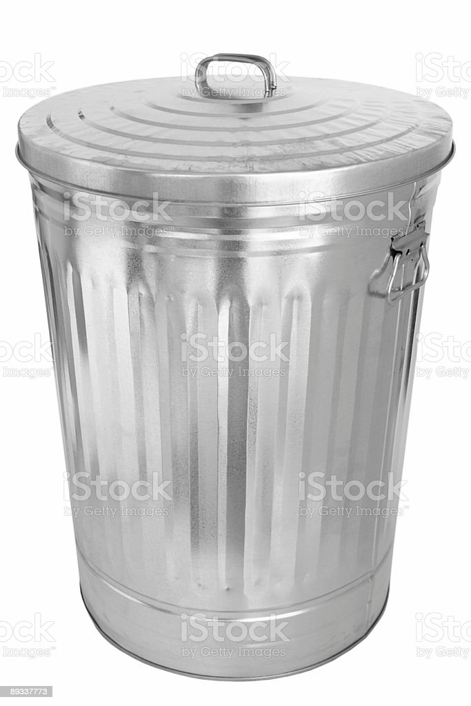 Garbage Can (isolated) royalty-free stock photo