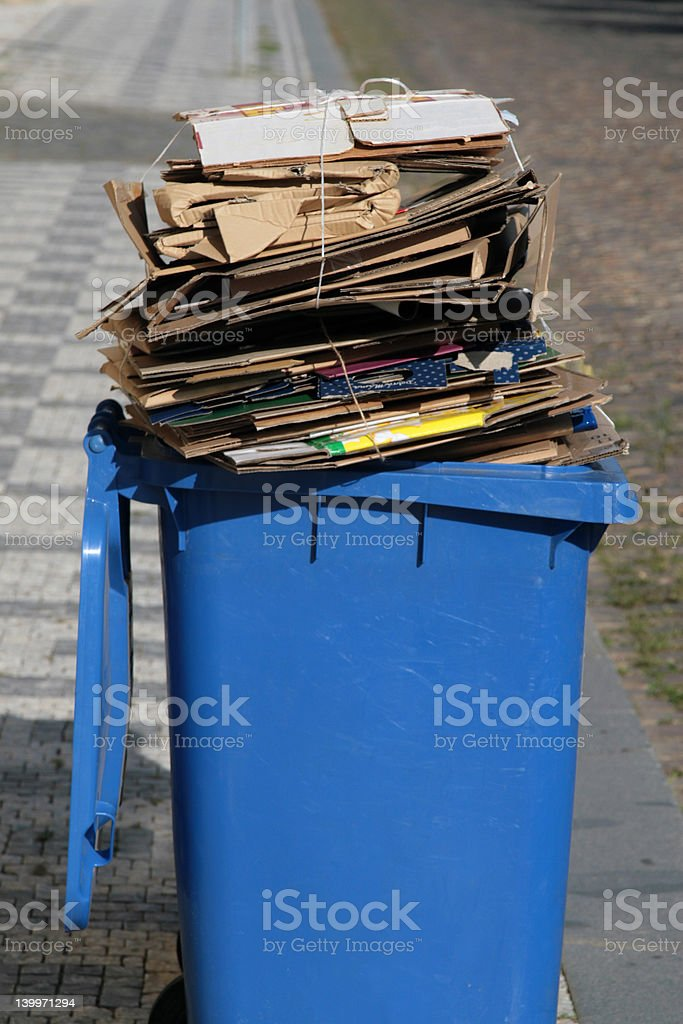 garbage can trash stock photo